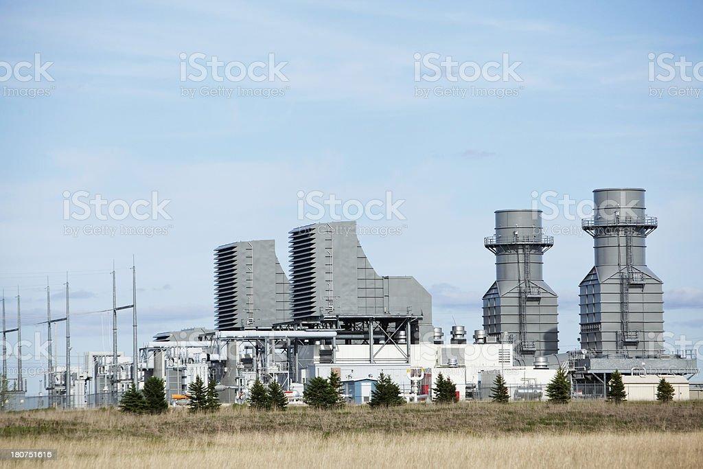 Natural Gas 400 Megawatt Electricity Peaking Plant stock photo