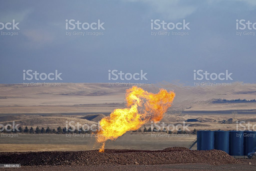 Natural Gas Burn-off royalty-free stock photo