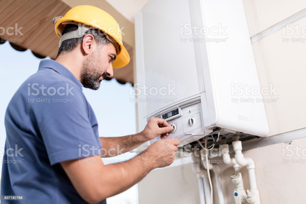 Natural Gas Combi Service stock photo
