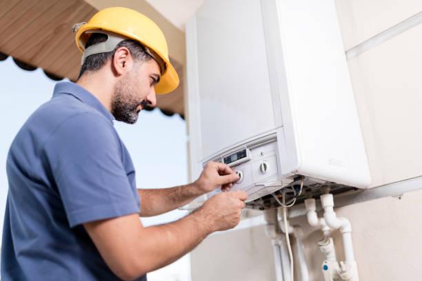 natural gas-combi-service - heißes wasser stock-fotos und bilder
