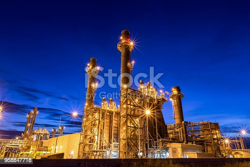 istock Natural gas combined cycle power plant and Turbine generator 958847718