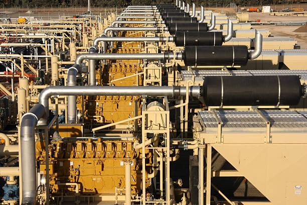 compresor de gas natural para construcción - compresor motor fotografías e imágenes de stock