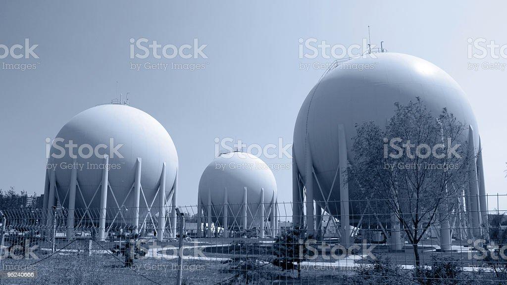 Natural Gas Factory royalty-free stock photo