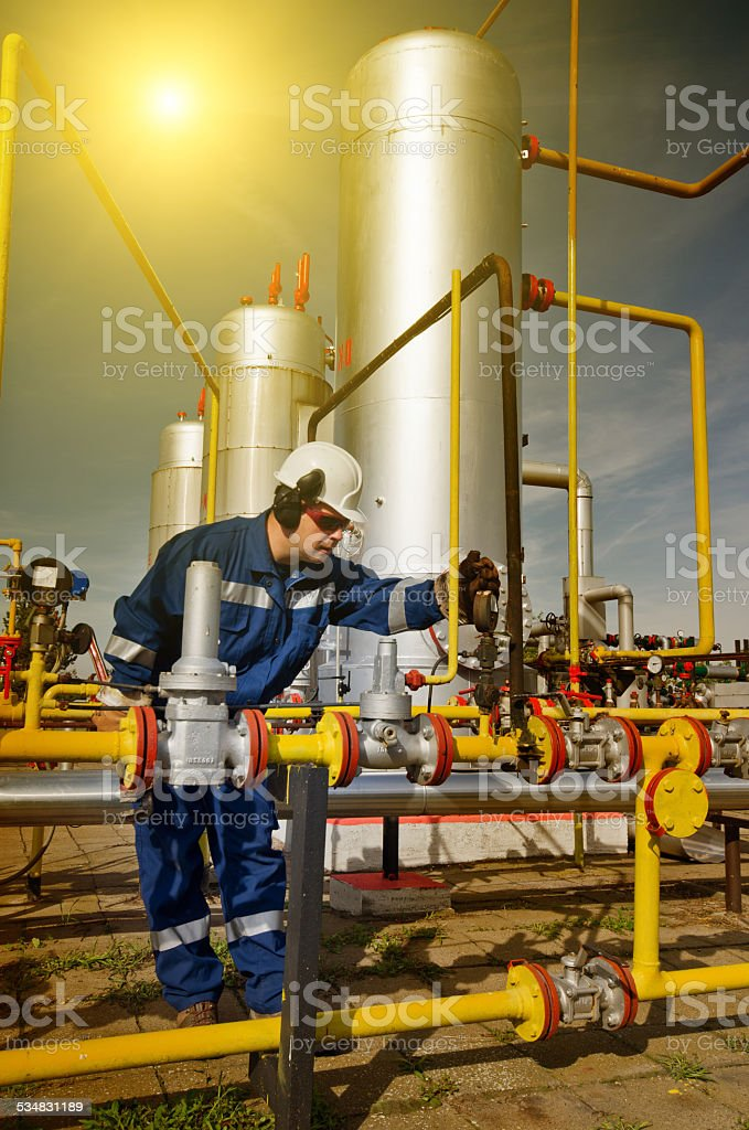 Natural gas industry stock photo