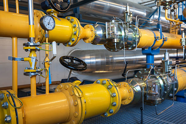natural gas inventory unit - cogeneration plant stock photos and pictures