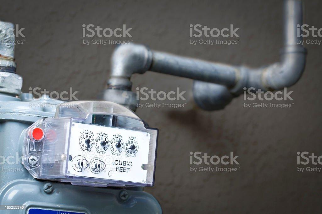 Natural Gas Meter stock photo