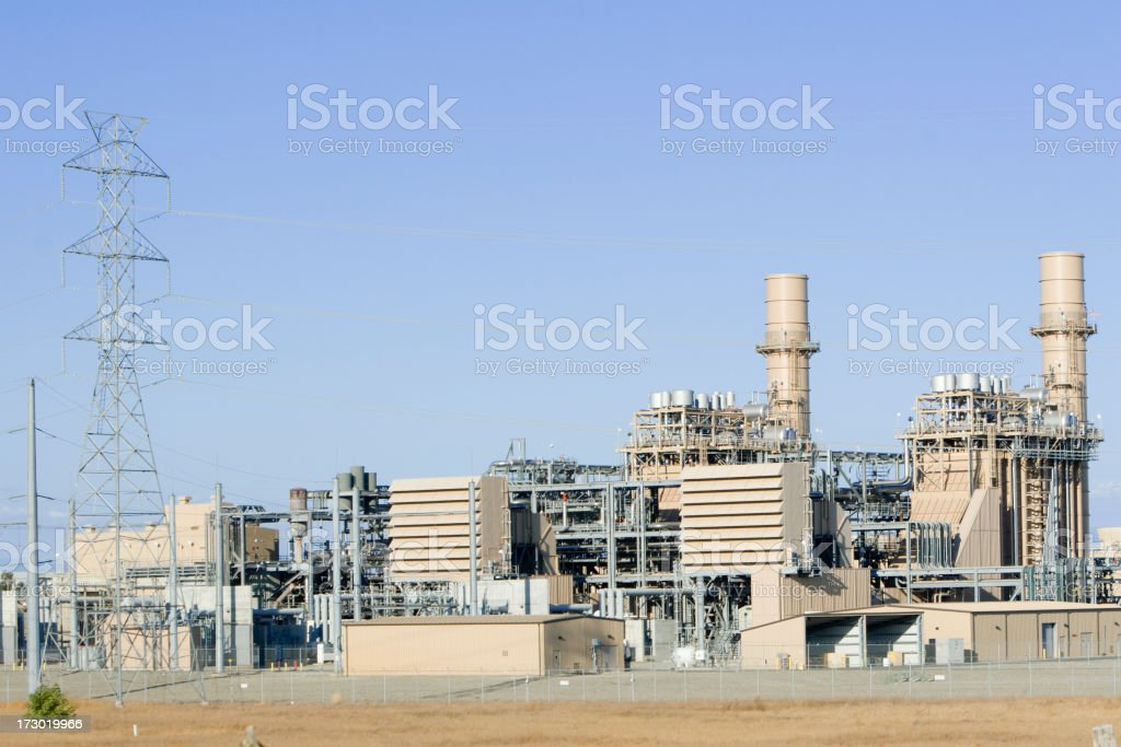 Natural Gas Power Generation Station stock photo