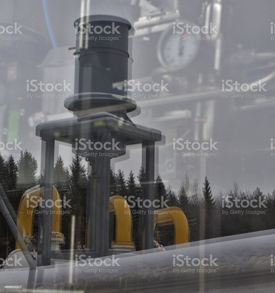Natural gas production plant royalty-free stock photo