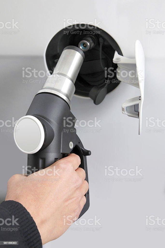 Natural gas pump royalty-free stock photo