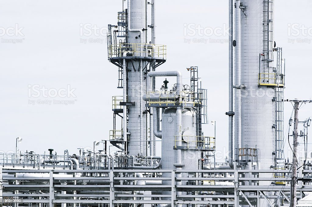 Natural Gas Refinery stock photo