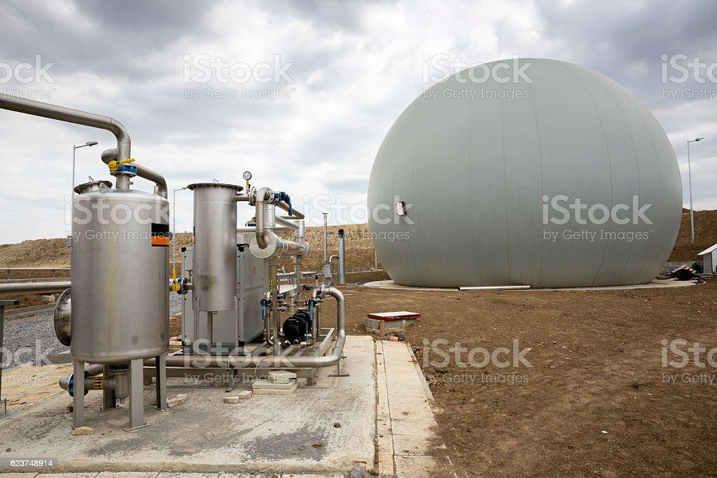 Natural gas tank stock photo