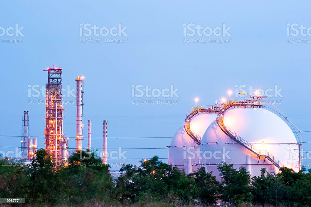Natural Gas Tanks stock photo