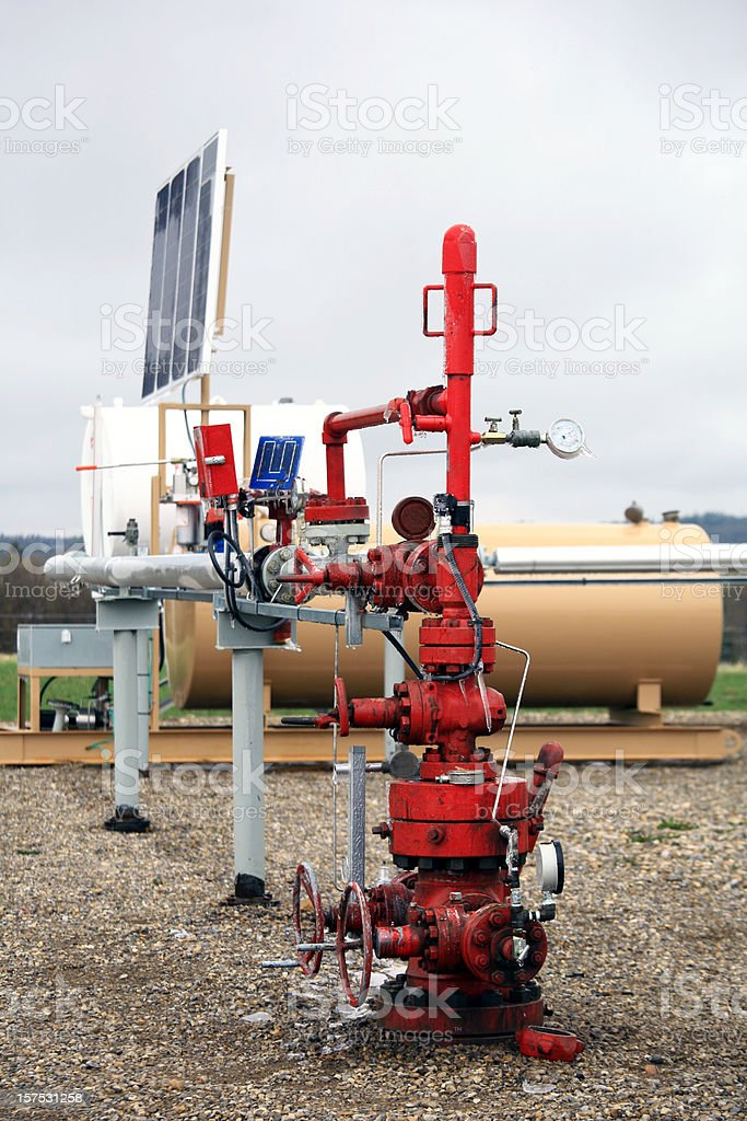 Natural Gas Wellhead royalty-free stock photo