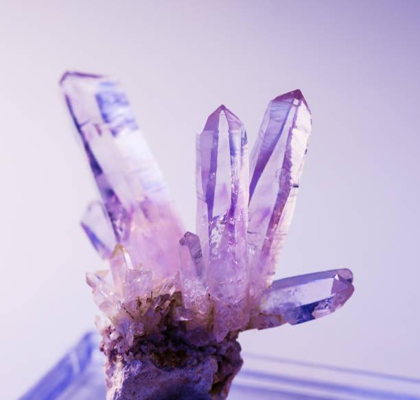 Natural gemstone amethyst stock photo