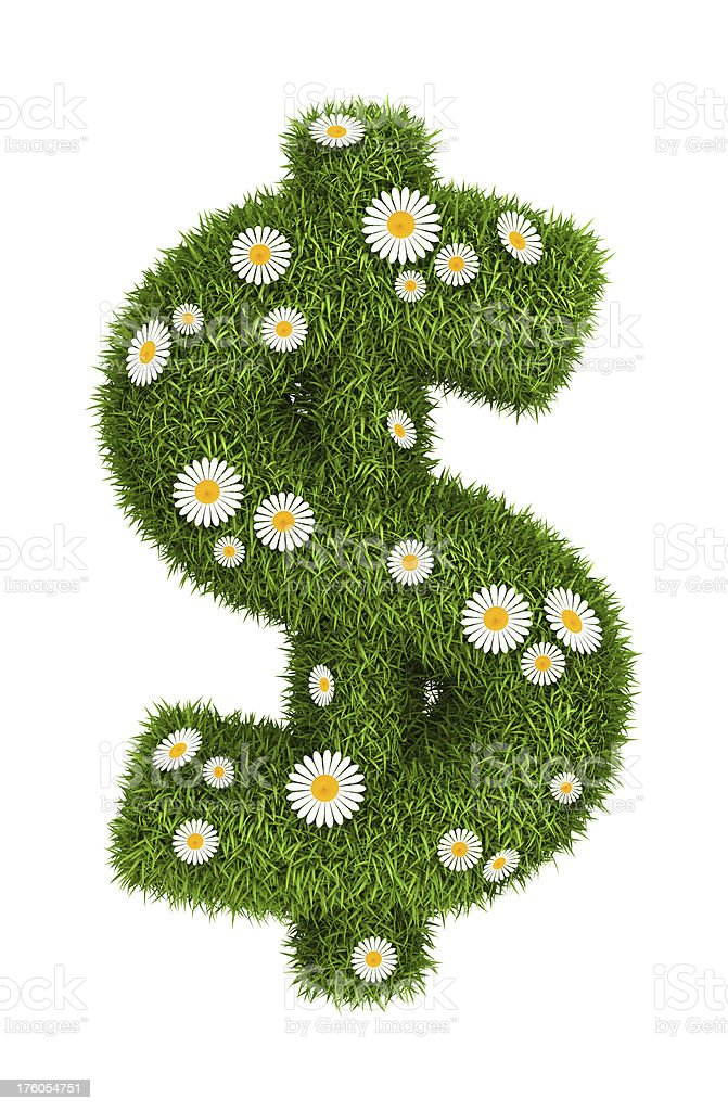 Natural grass dollar royalty-free stock photo