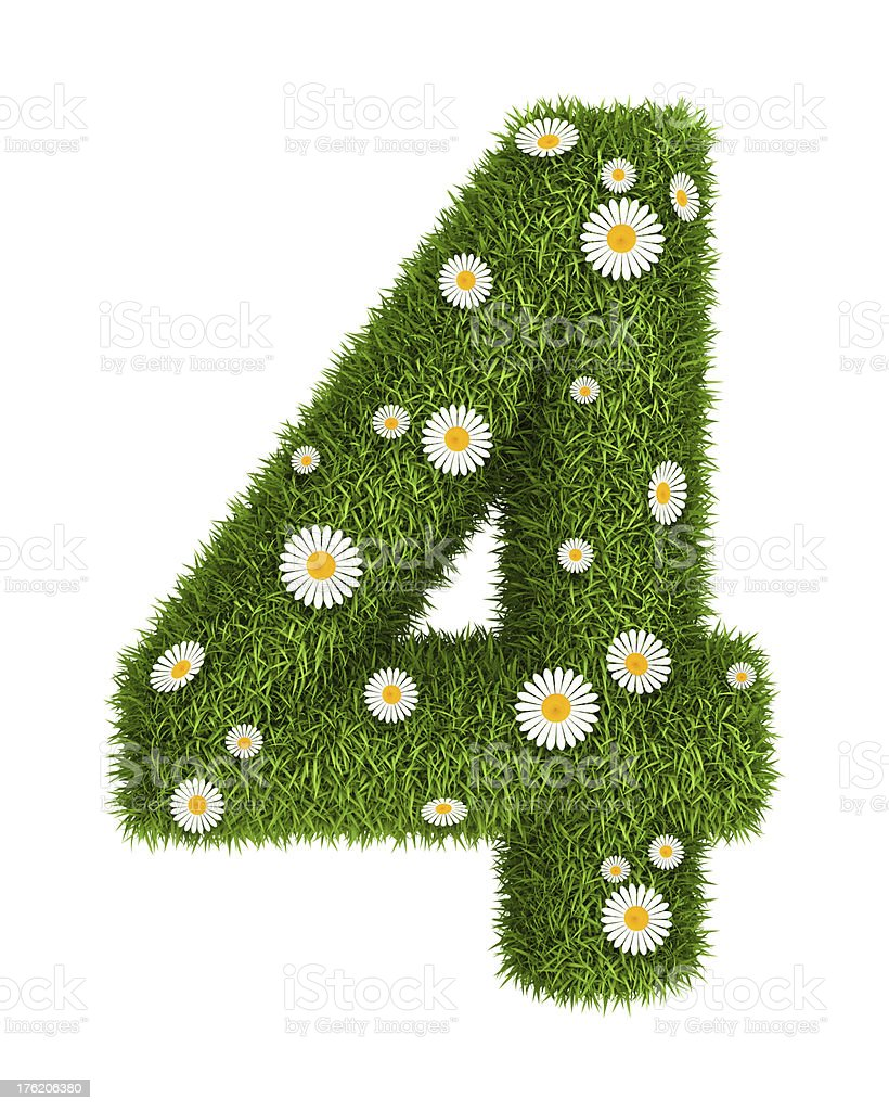 Natural grass number 4 royalty-free stock photo