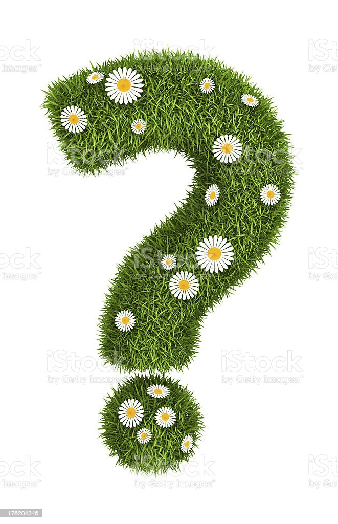 Natural grass question mark royalty-free stock photo