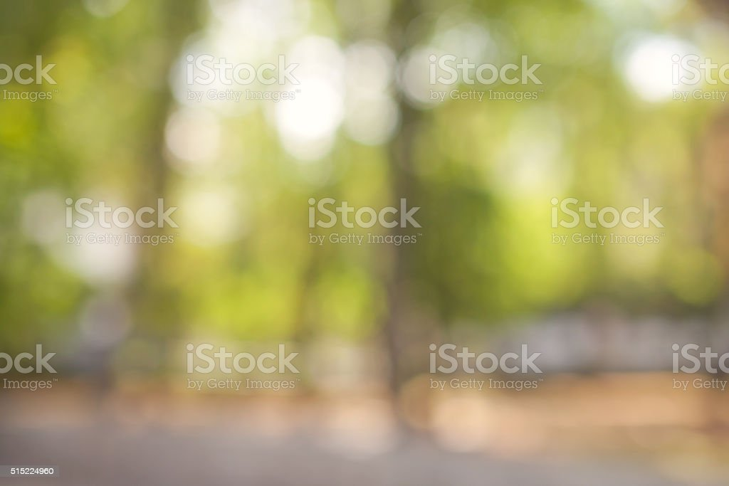 Natural green blurred background with beautifull bokeh - Royalty-free Backgrounds Stock Photo