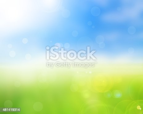 istock natural green bright spring with sunlight bokeh background 481419314