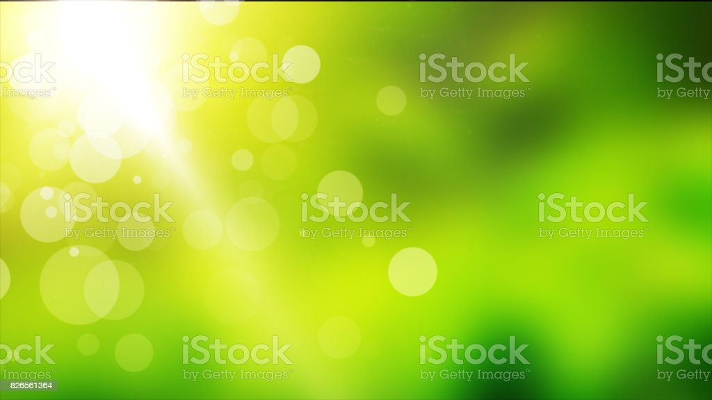 Natural green motion background illustration copy space stock photo