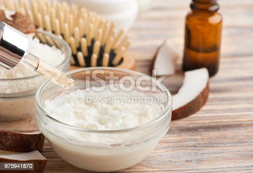 istock Natural hair treatment with coconut 975941870