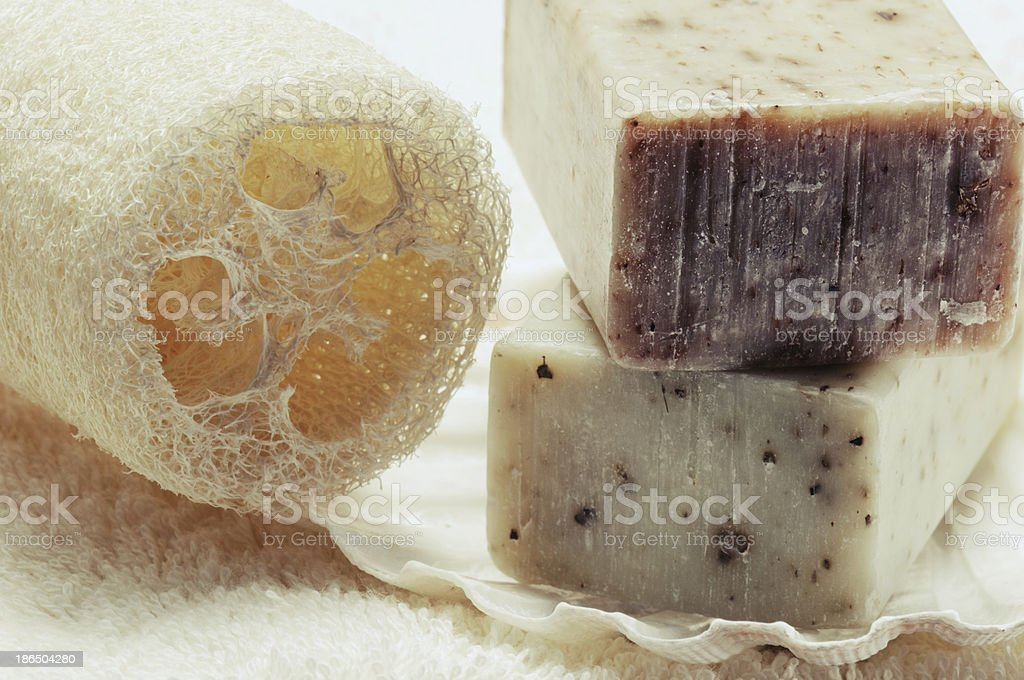 Natural handmade soap royalty-free stock photo