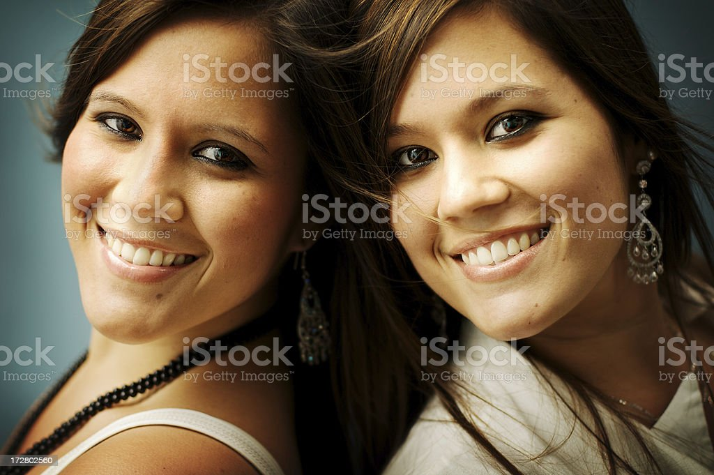 Natural Happy Girls royalty-free stock photo