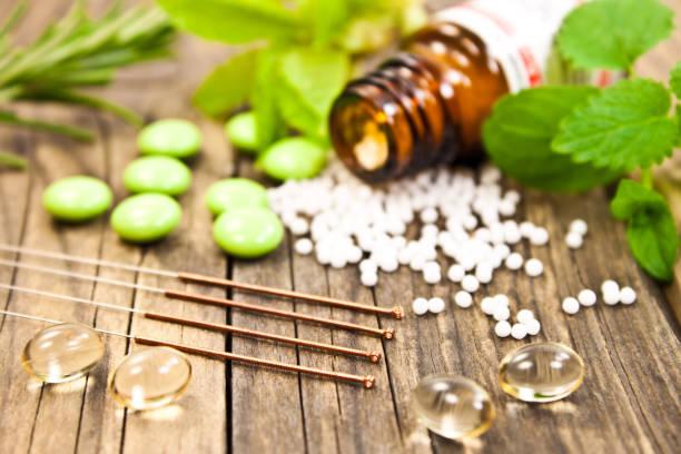 naturliga helande alternativ medicin - örtmedicin bildbanksfoton och bilder