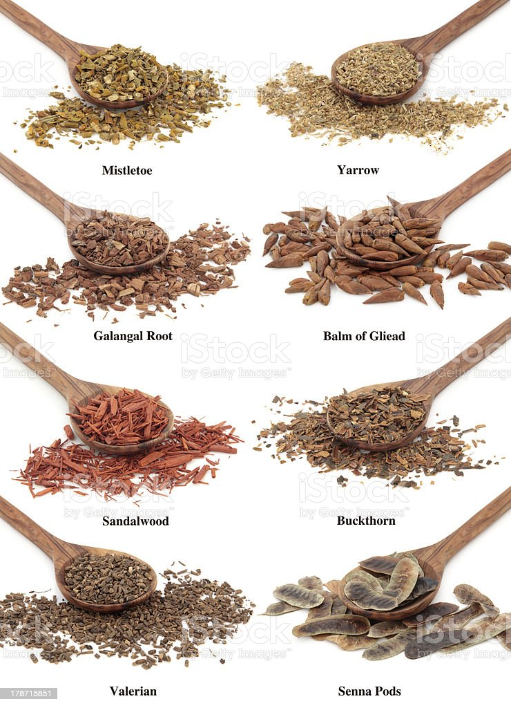Natural Herbal Remedies stock photo