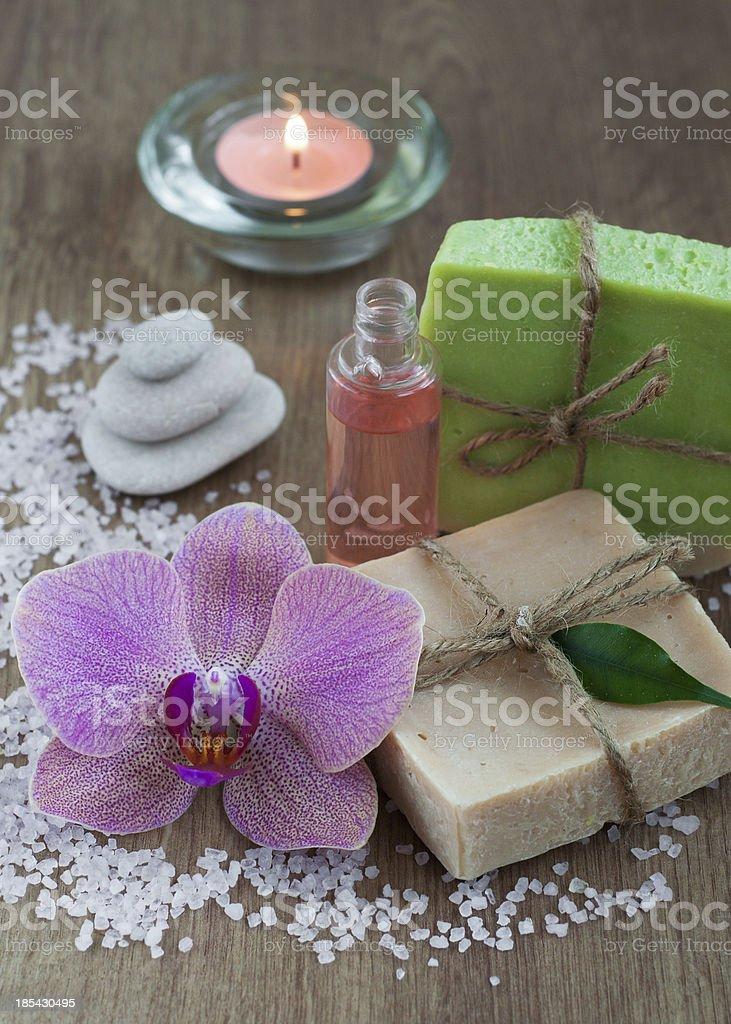 Natural Herbal Soap royalty-free stock photo