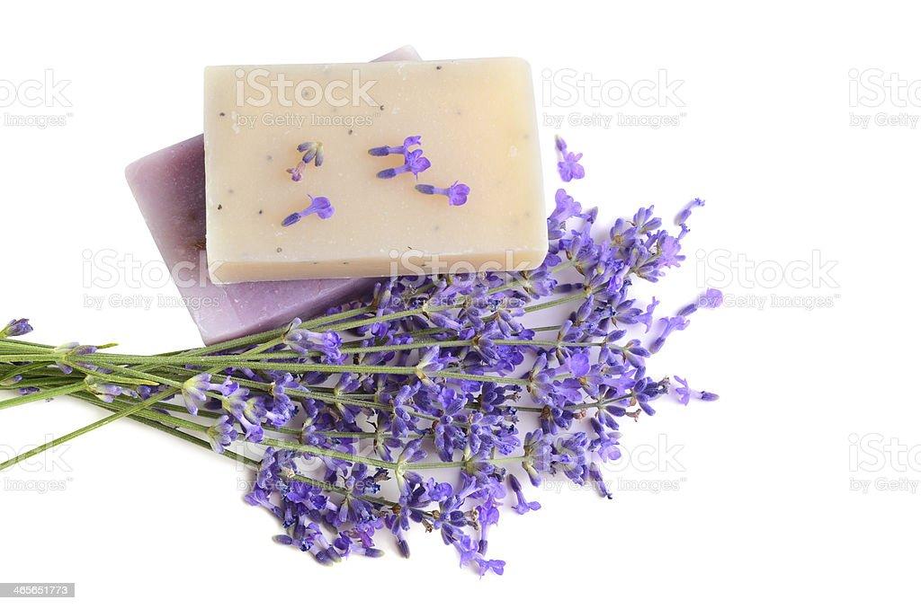 Natural herbal soaps royalty-free stock photo