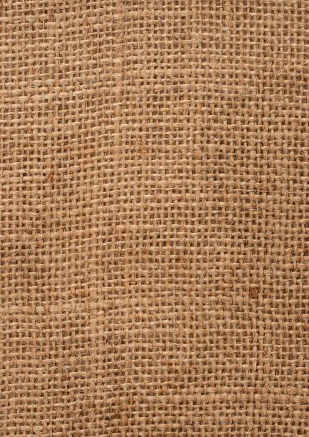 Natural Hessian Fabric stock photo