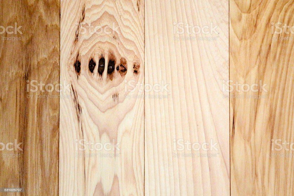 Fantastisch Lieblich Natürliche Hickory Holz Etage Mit Knoten Und Vertikale Planken  Lizenzfreies Stock Foto