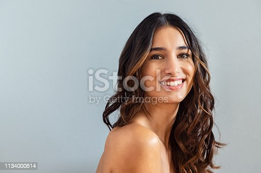 istock Natural hispanic beauty 1134000514