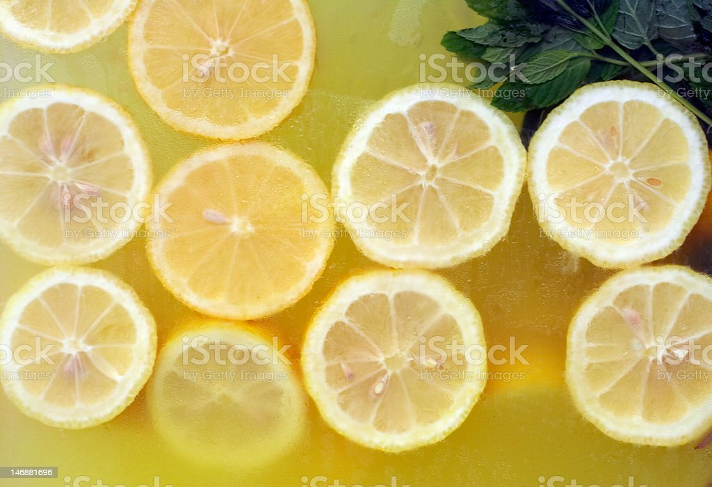 natural home made lemonade with mint royalty-free stock photo