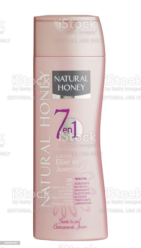 Natural Honey skin lotion. stock photo