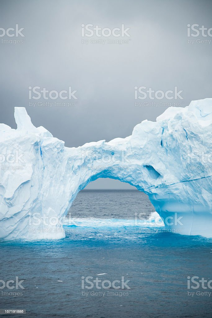 Natural Ice Arch Antarctica royalty-free stock photo