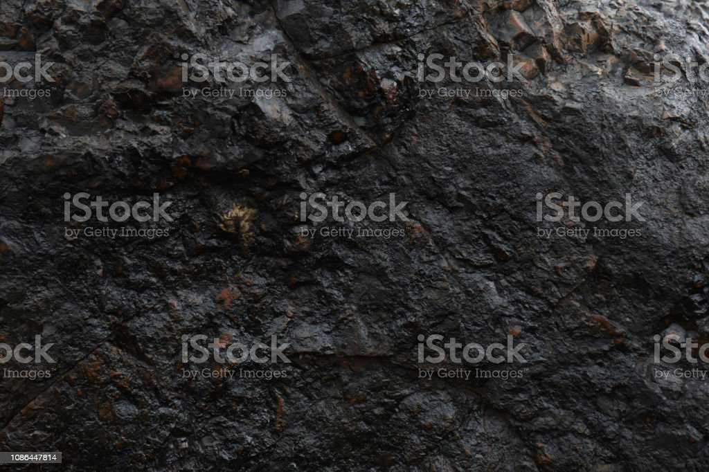 Natural Iron Ore Face Surface Texture - Foto stock royalty-free di A forma di blocco