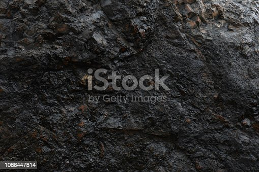 Face surface texture of natural magnetite iron ore, Limpopo, South Africa