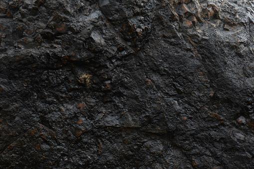 Natural Iron Ore Face Surface Texture - Fotografie stock e altre immagini di A forma di blocco