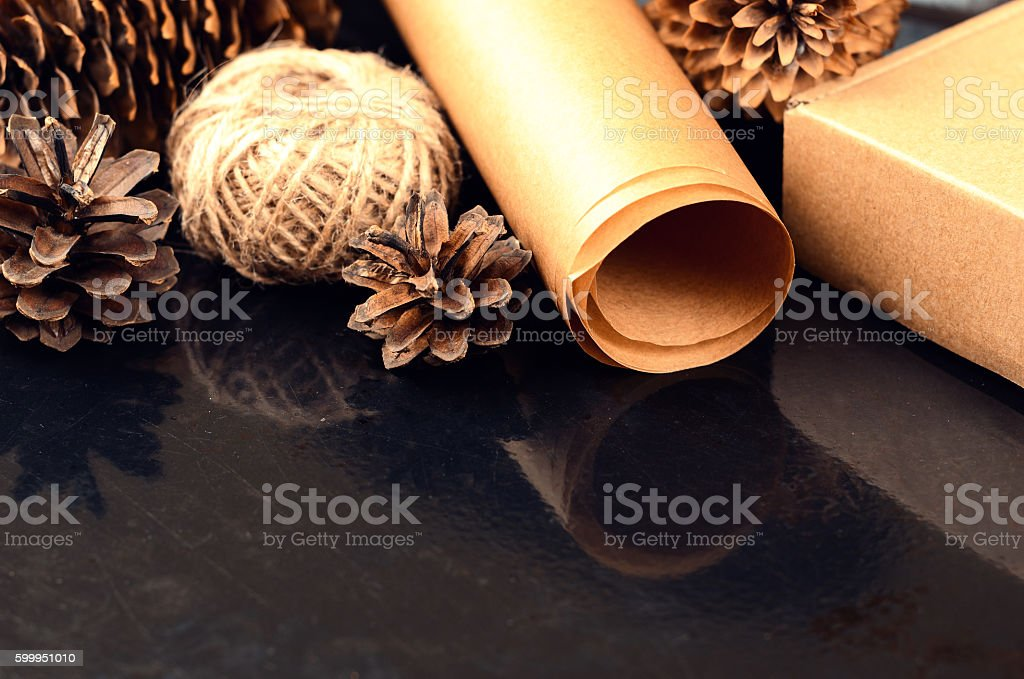 Natural items collection for handcraft stock photo