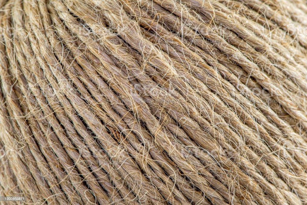 Natural Jute Twine Macro Shot Jute Thread Texture Skein Of Jute Rope Stock Photo Download Image Now Istock