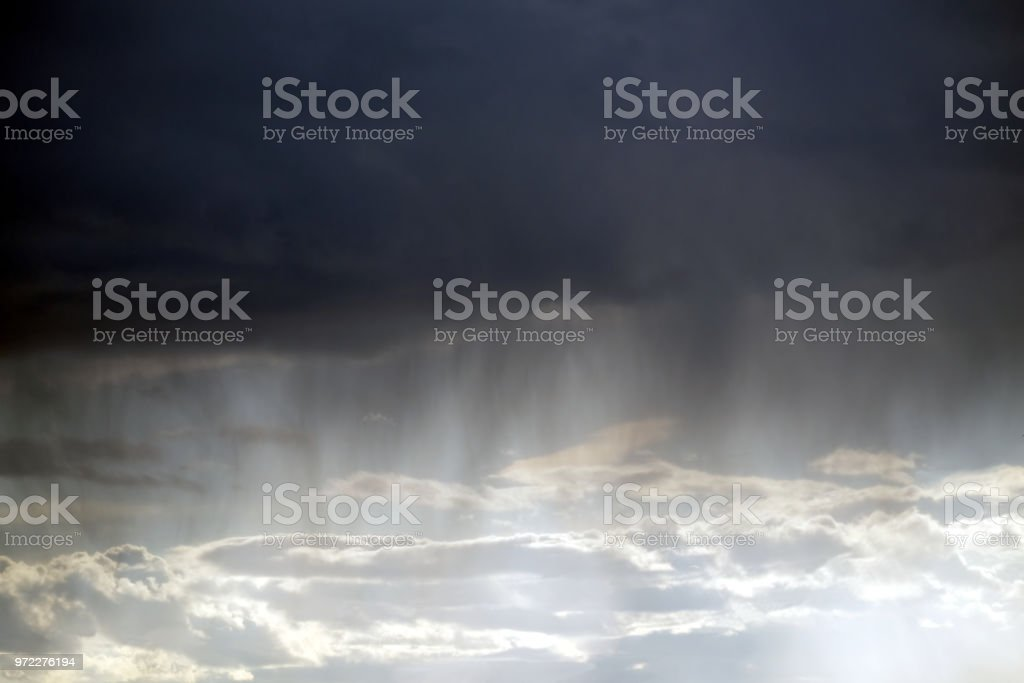 Natural landscape with bad weather with storm sky with many heavy...