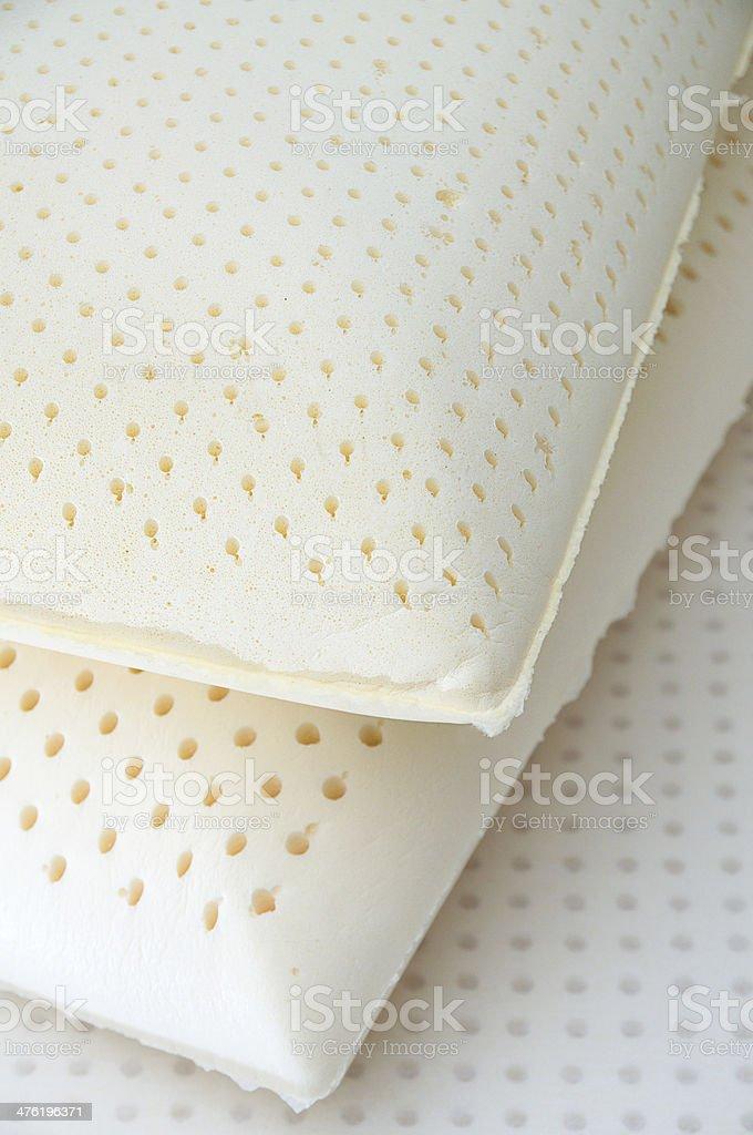Natural latex pillows stock photo