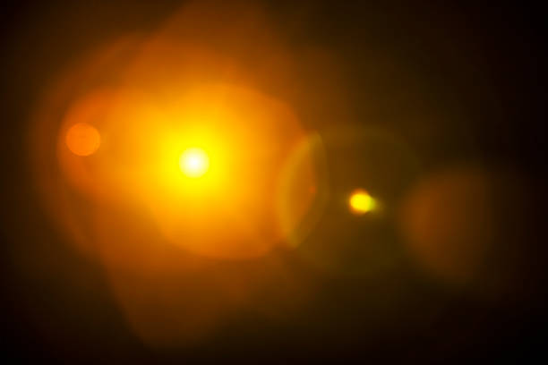 natural lens flare background - lens flare stock photos and pictures