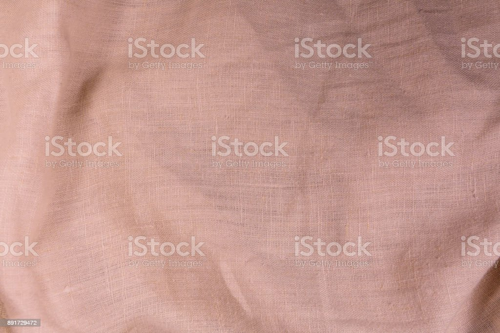 Natural linen texture for the background stock photo