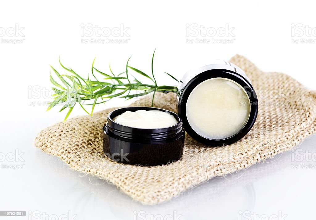 Natural lip balm skin salve stock photo