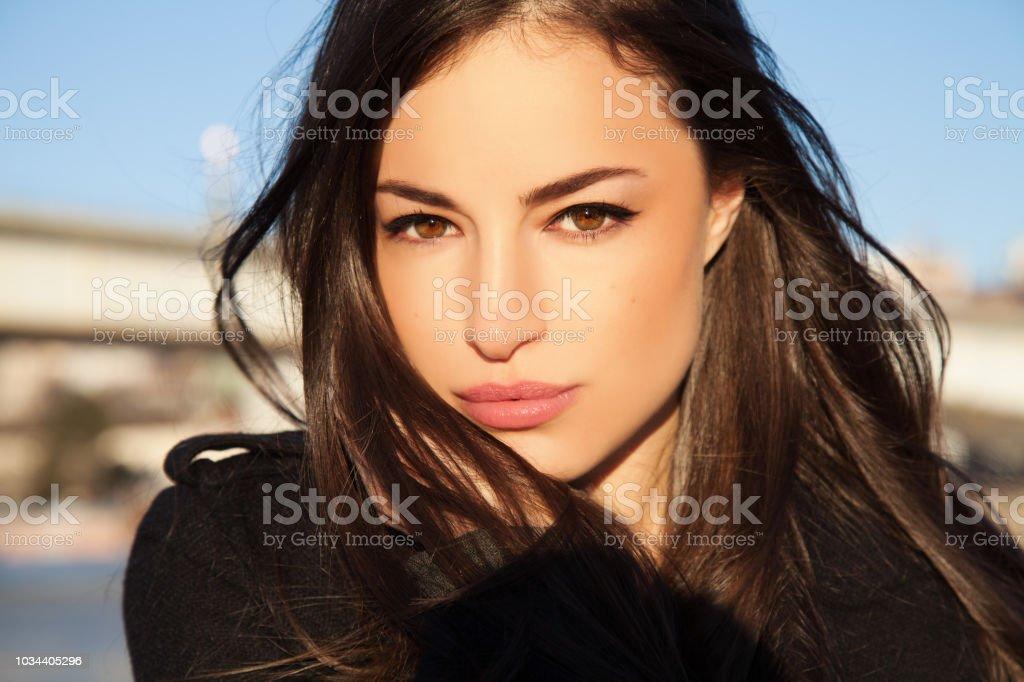 natuurlijke look schoonheid portret - Royalty-free Alleen volwassenen Stockfoto