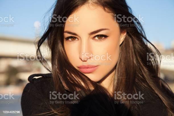 Natuurlijke Look Schoonheid Portret Stockfoto en meer beelden van Alleen volwassenen