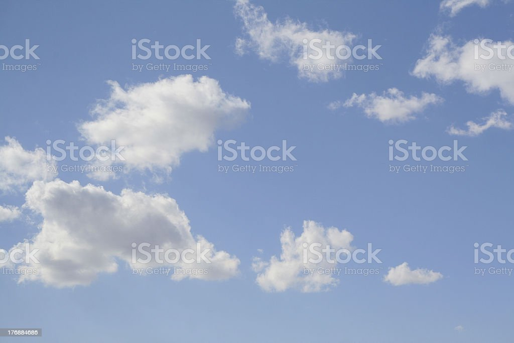 natural looking spring sky stock photo